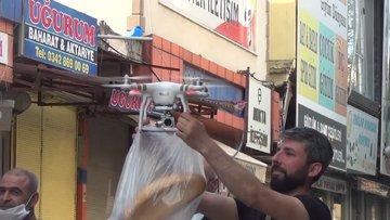 Drone ile ekmek satışı