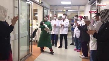 Batman'da 1 aylık Muhammed bebek, koronavirüsü yendi