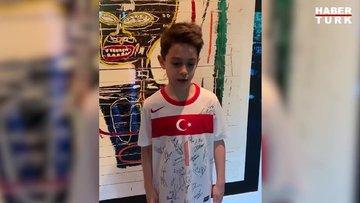 Cem Yılmaz'ın oğlu Kemal Yılmaz'dan 23 Nisan kutlaması