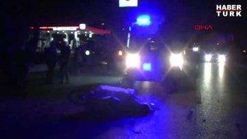 Kamyona arkadan çarpan motosikletin sürücüsü öldü, kaza anı kamerada