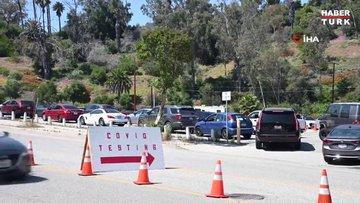 Los Angeles'ta kilometrelerce test kuyruğu oluştu