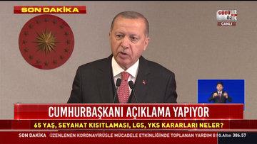 Cumhurbaşkanı Erdoğan açıklamalarda bulundu