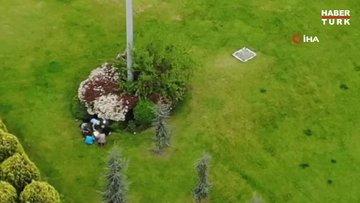 E-5'in yanı başında piknik yapıp tavla oynadılar