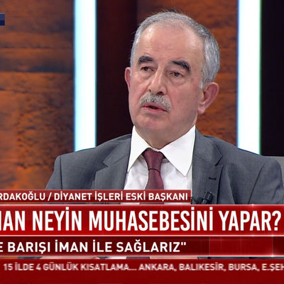 Eski Diyanet İşleri Başkanı Ali Bardakoğlu: İnsan oruçlu iken kalp kırarsa geriye sadece açlık kalır