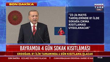 Cumhurbaşkanı Erdoğan: 29 Mayıs Cuma günü cuma namazıyla birlikte şartları uygun camilerden başlayarak camilerimizi ibadete açıyoruz
