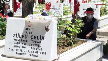 Ankara'da şehit aileleri şehitliğe akın etti