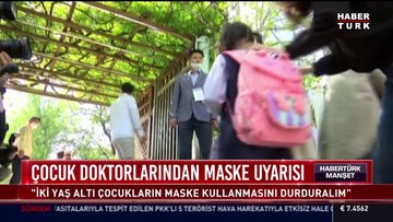 Çocuk doktorlarından maske uyarısı