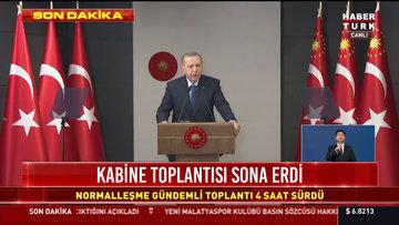 Cumhurbaşkanı Erdoğan 1 Haziran'da yasak kalkıyor