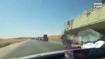 Hafter saflarında savaşan paralı askerler, konvoylar halinde çekiliyor