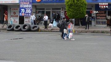 Kısıtlama kalktı, İstanbul'a gitmek isteyen vatandaşlar otogara koştu