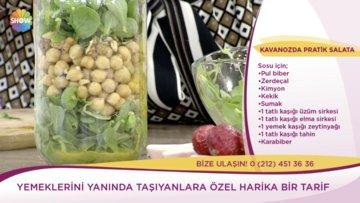 Kavanozda pratik salata tarifi