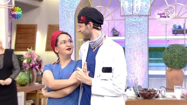 Dans eden doktor çift Zahide Yetiş'le'de!