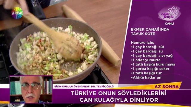 Ekmek çanağında tavuk sote