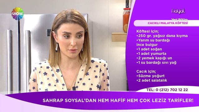 Cacıklı Malatya Köftesi