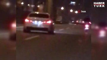 İstanbul trafiğinde dehşet saçan anlar