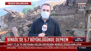 HABERTÜRK, Bingöl Karlıova'da depremin merkez üssünde son durumu görüntüledi.