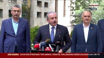 TBMM Başkanı Mustafa Şentop açıklamalarda bulundu