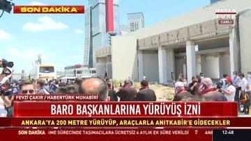Baro başkanlarına yürüyüş izni
