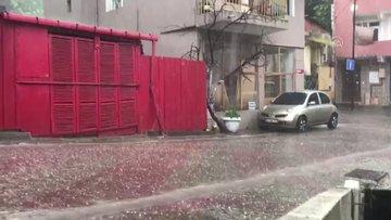 Üsküdarda dolu yağışı