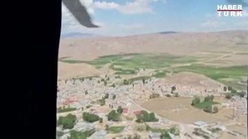 Vali Bilmez, depremin etkili olduğu mahallelerde helikopterle inceleme yaptı