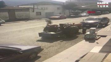 Aydın'ın Efeler ilçesinde yaşanan ve bir kişinin öldüğü trafik kazasının kamera kayıtları yürek yaktı!