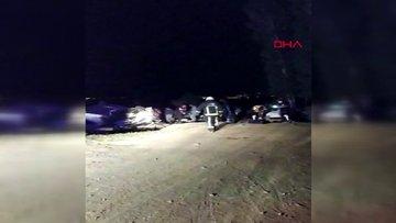Van'da kaçak göçmenlerin minibüsü ile otomobil çarpıştı: 1 ölü, 41 yaralı