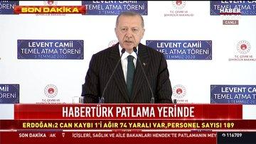 """Cumhurbaşkanı Erdoğan, Levent'teki camiye """"Barbaros Hayrettin Paşa"""" adını verdiklerini açıkladı"""