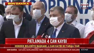 Sağlık Bakanı Koca ve İçişleri Bakanı Soylu'dan olay yerinden açıklama