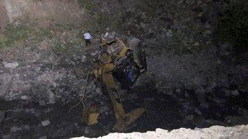Gümüşhane'de yol yapımı sırasında heyelan: 2 ölü