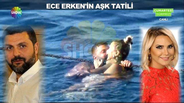 Ece Erken ''ayrıldım'' dediği sevgilisi ile tatilde görüntülendi!
