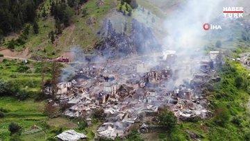 Artvin'deki köy yangınlarının sebebi açıklandı