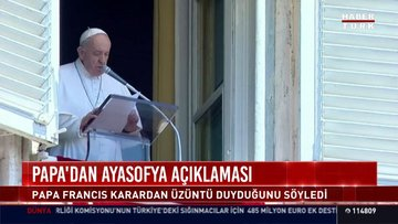 "Papa Franciscus'tan ""Ayasofya"" açıklaması"