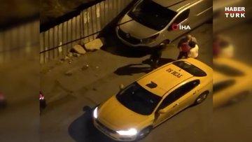 İstanbul'da taksici terörü kamerada