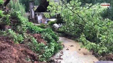 Rize'deki şiddetli yağışın ardından