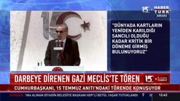 Cumhurbaşkanı Erdoğan 15 Temmuz Anıtı'ndaki törende konuştu