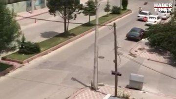 Jandarma binasına 12 el ateş eden silahlı saldırgan işte böyle görüntülendi!