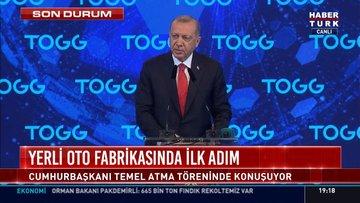 Cumhurbaşkanı Erdoğan, yerli otomobil fabrikası açılışında konuştu