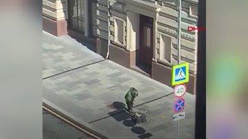 Rusya'da şüpheli çanta patlatıldı, içinden pizza çıktı
