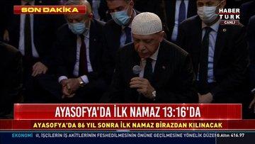 Cumhurbaşkanı Erdoğan Ayasofya'da Kuran-ı Kerim okudu