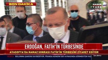 Erdoğan, Fatih'in türbesinde