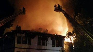 Son dakika haberi... Safranbolu'da tarihi iki konakta yangın