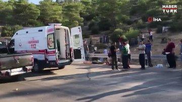 Mersin'de askerleri taşıyan otobüs devrildi! 5 asker şehit oldu