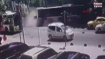 Kadıköy'deki İETT otobüsü kazasından sonra yeni güvenlik kamerası görüntüsü