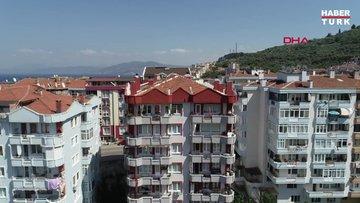 Bursa'da, kolonları patlayan 9 katlı bina tahliye edildi