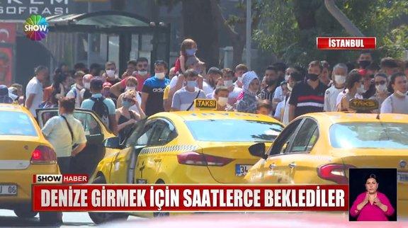 İstanbul sahillerine akın ettiler!