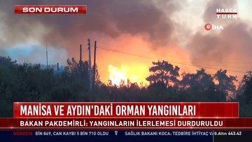 Manisa ve Aydın'daki orman yangınları