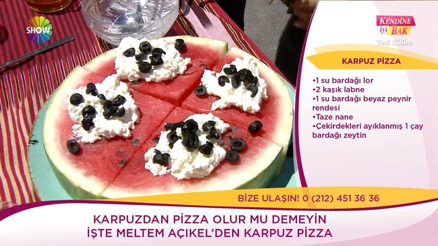 Karpuz pizza
