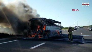 Çekmeköy'de otobüs yangını