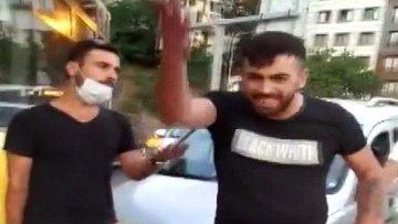 Alibeyköy'de trafikte kadına saldırı kameraya yansıdı