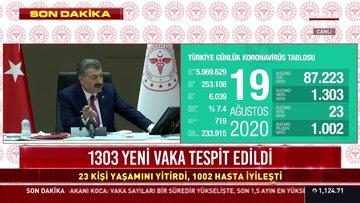 Sağlık Bakanı Koca'dan koronavirüs salgınına ilişkin açıklamalar